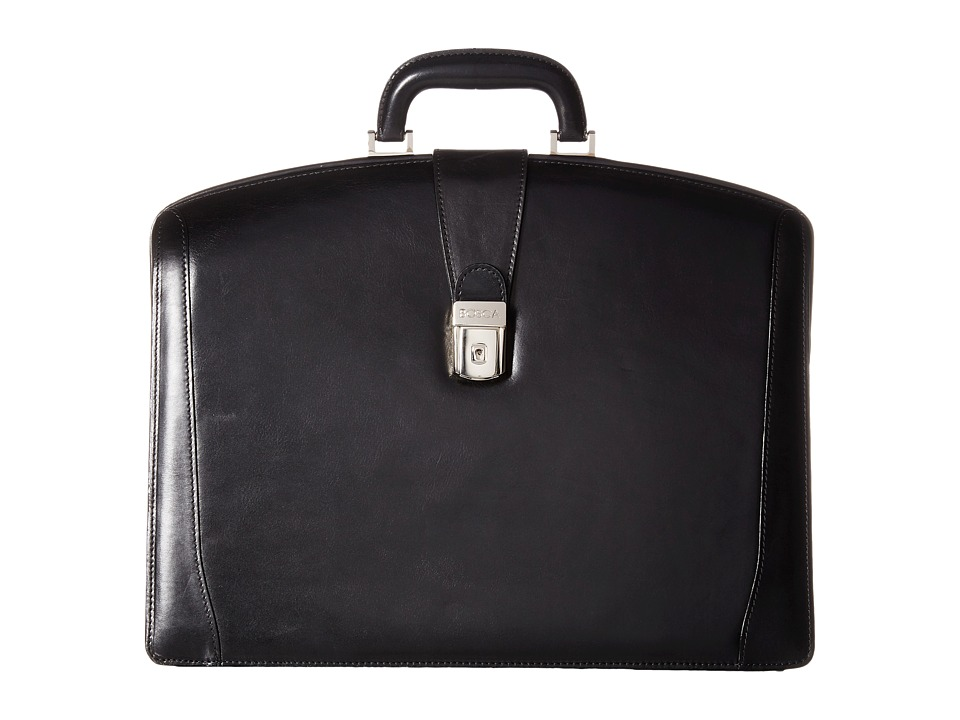 Bosca - Old Leather Collection - Partners Brief (Black Leather) Briefcase Bags