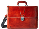 Bosca Old Leather Collection Double Gusset Briefcase (Cognac Leather)