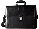 Bosca Old Leather Collection Double Gusset Briefcase (Black Leather)