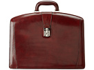 Bosca Old Leather Collection Partners Brief (Dark Brown Leather)