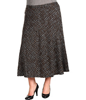 Jones New York - Plus Size Grid Boucle Seamed Boot Skirt