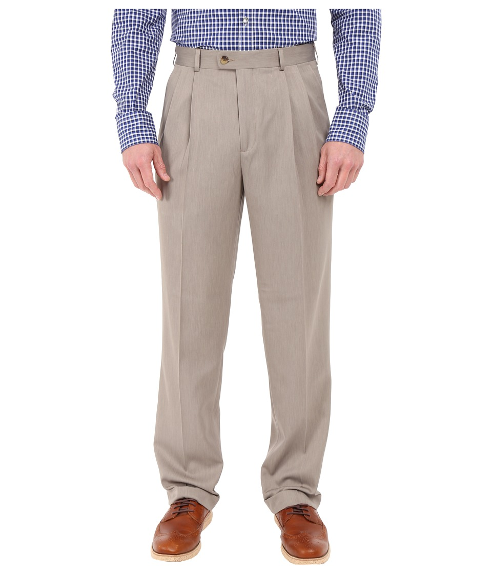 Perry Ellis Portfolio - Classic Fit Double Pleat Micro