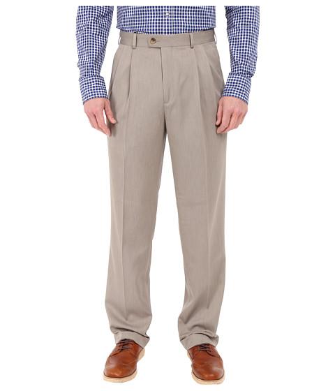 Perry Ellis Portfolio Classic Fit Double Pleat Micro-Melange Pant - Simply Taupe