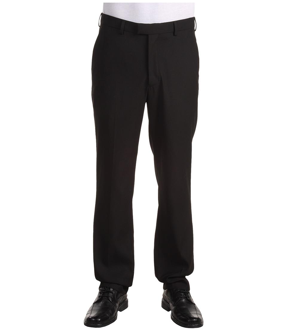 Perry Ellis Portfolio Modern Fit Flat Front Bengaline Pant Black Ice Mens Dress Pants