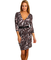 BCBGMAXAZRIA - Kimber Belted Faux Wrap Dress