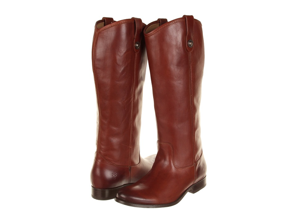 Frye Melissa Button Boot Extended (Cognac Extended (Soft Vintage Leather)) Cowboy Boots