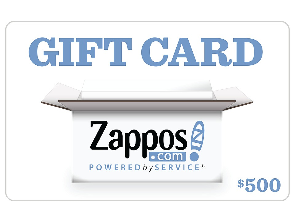 Zappos Gift Cards B2C Zappos 500 Gift Card Zappos Gift Cards Gifts