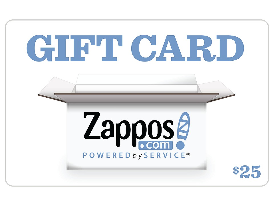 Zappos Gift Cards B2C Zappos 25 Gift Card Zappos Gift Cards Gifts