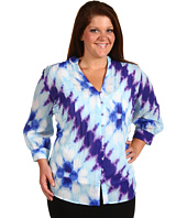 Jones New York - Plus Size 3/4 Sleeve Pleated Tunic Blouse