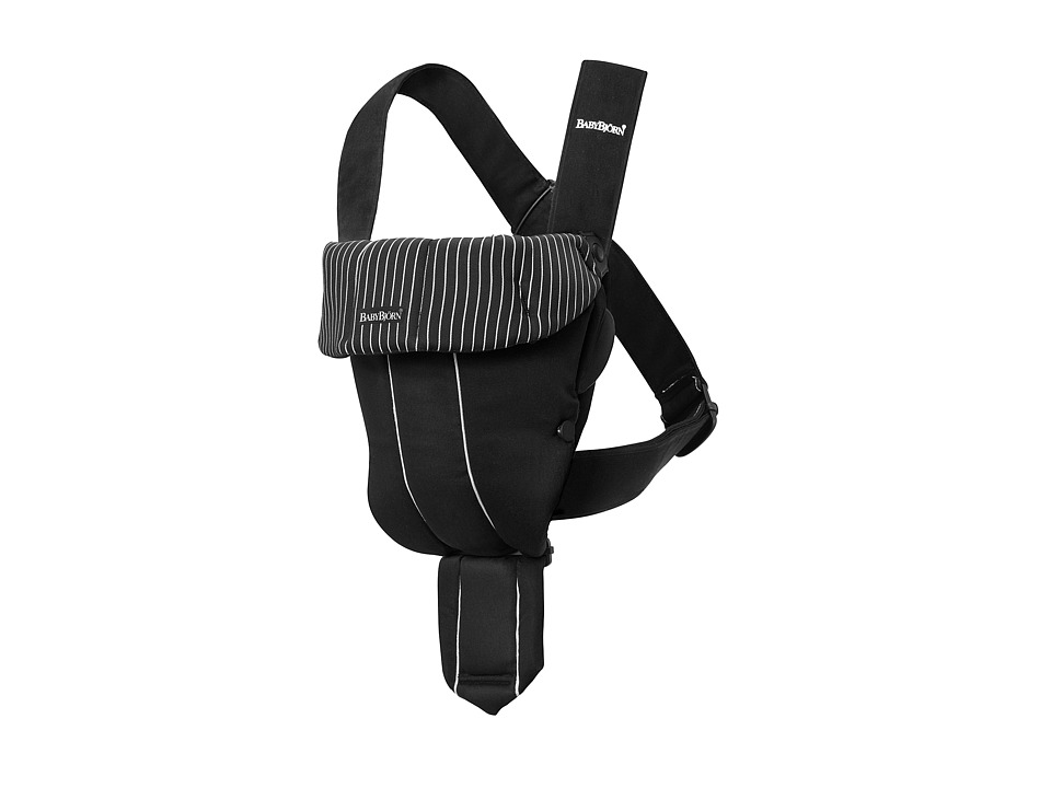 Image of BabyBjorn - Baby Carrier Original (Black/Pinstripe) Carriers Travel