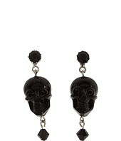 Tarina Tarantino - Lucite Skull Drop Earrings