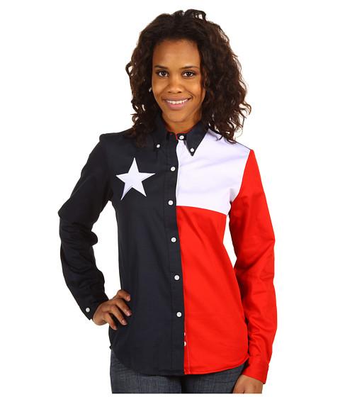 Roper Texas Pieced Flag Shirt - Natural