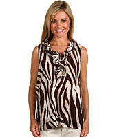 Jones New York - Sleeveless Tunic w/ Ruffle Neckline