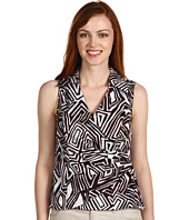 Jones New York - Print Sleeveless Side Zip Wrap