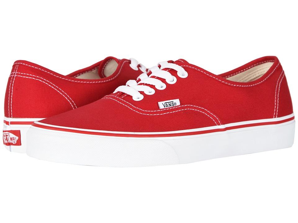 Vans Authentictm Core Classics (Red) Skate Shoes