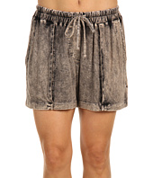 Three Dots - Crushed Denim Drawstring Shorts