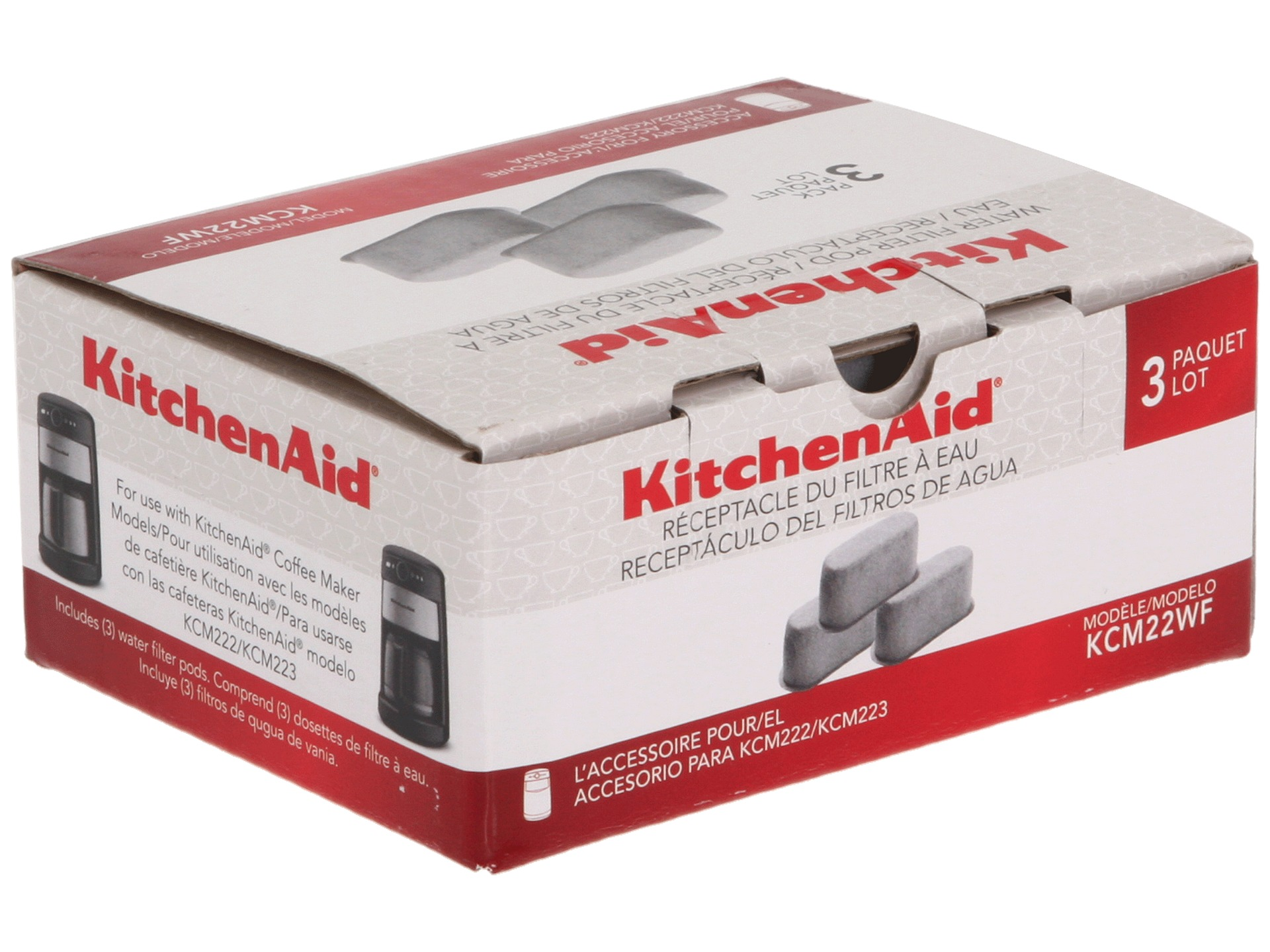 Kitchenaid Kcm22wf 3 Pack Water Filters Shipped Free at Zappos