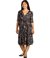 Maternal America - Maternity Houndstooth Front Tie Dress