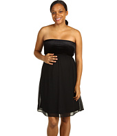 Maternal America - Maternity Strapless Velvet Chiffon Dress