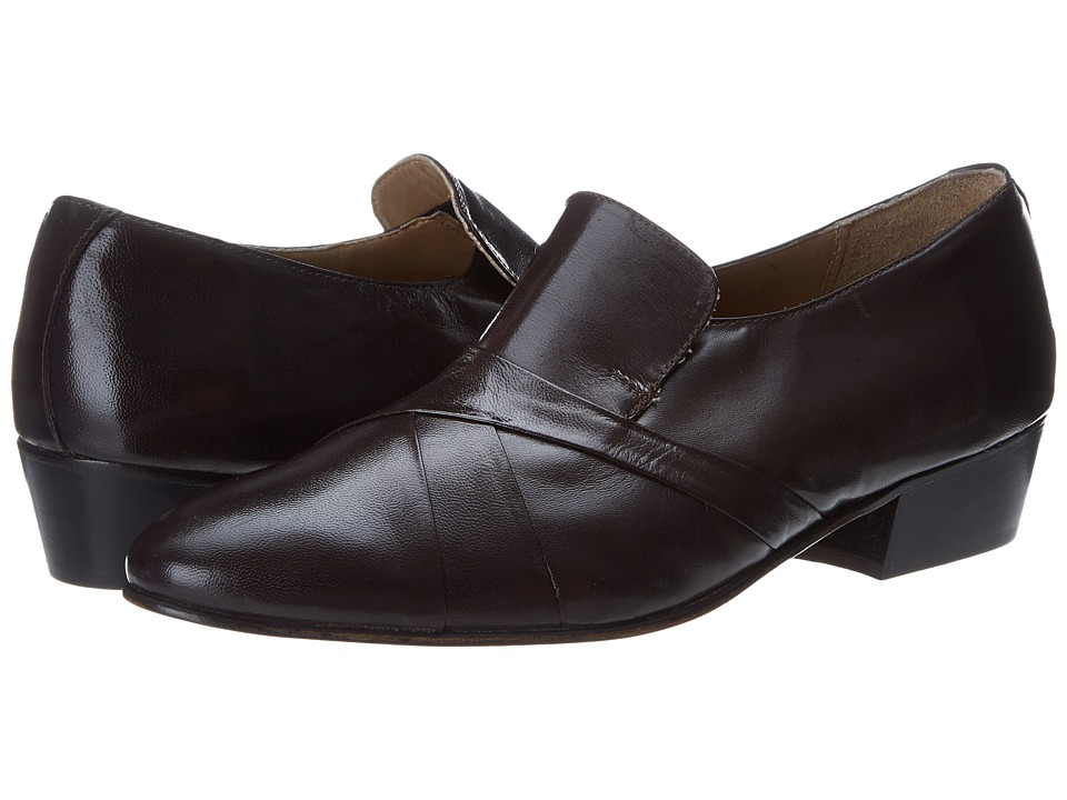 1960s Style Men's Clothing, 70s Men's Fashion Giorgio Brutini - Bernard Brown Kidskin Mens Slip-on Dress Shoes $59.00 AT vintagedancer.com