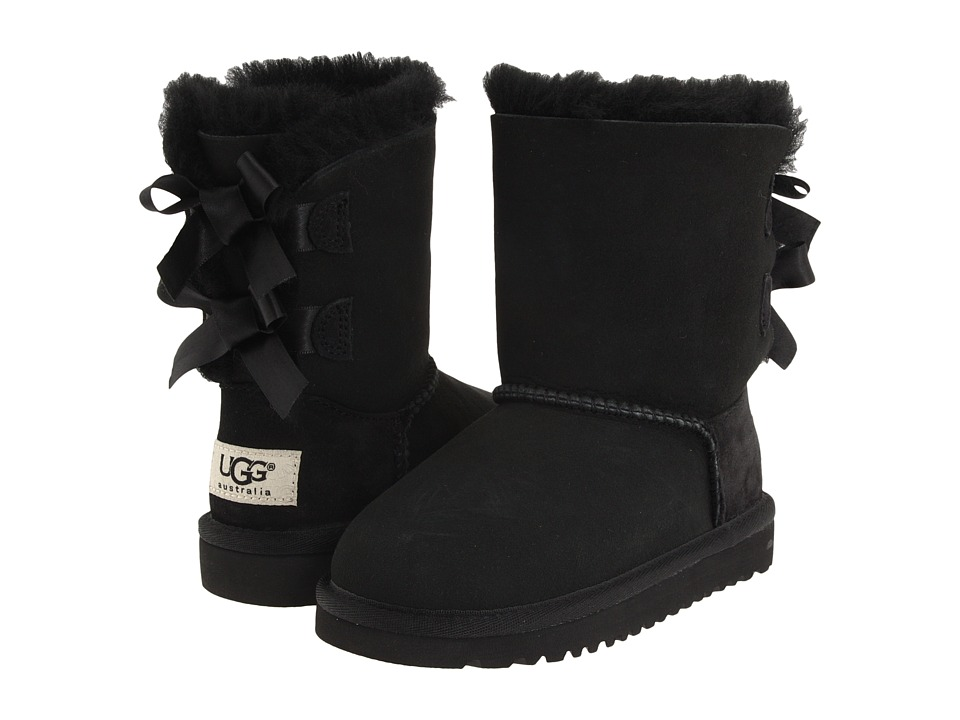 UGG Kids Bailey Bow (Toddler/Little Kid) (Black) Girls Shoes
