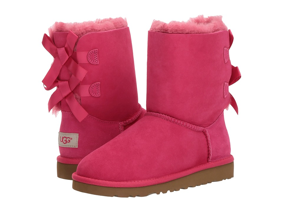 UGG Kids Bailey Bow Little Kid/Big Kid Cerise Girls Shoes