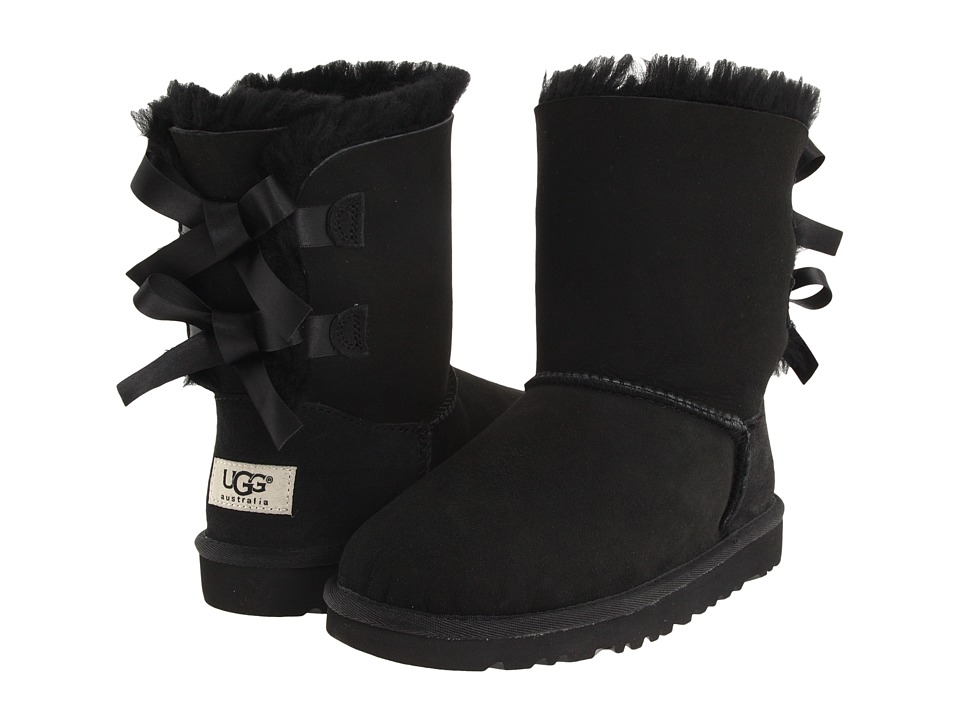 Ugg Kids - Bailey Bow (Little Kid/Big Kid) (Black) Girls ...