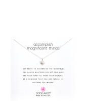 Accomplish Magnificent Things Necklace 16  Silver