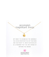 Accomplish Magnificent Things Necklace 16  Gold