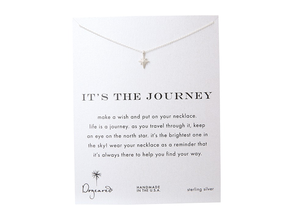 Dogeared Its The Journey Necklace 16 inch Silver Necklace