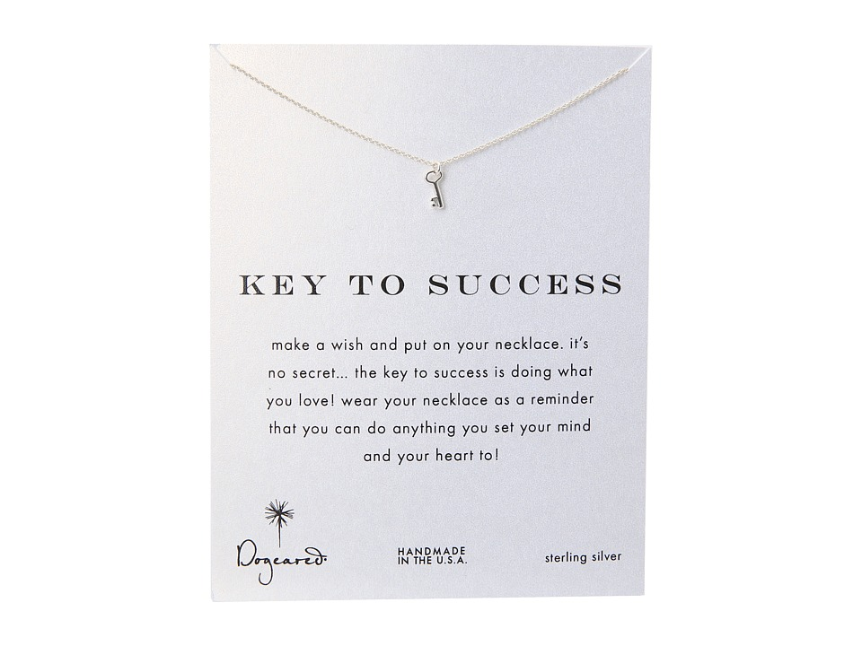 Dogeared Key To Success Necklace 16 Silver Necklace