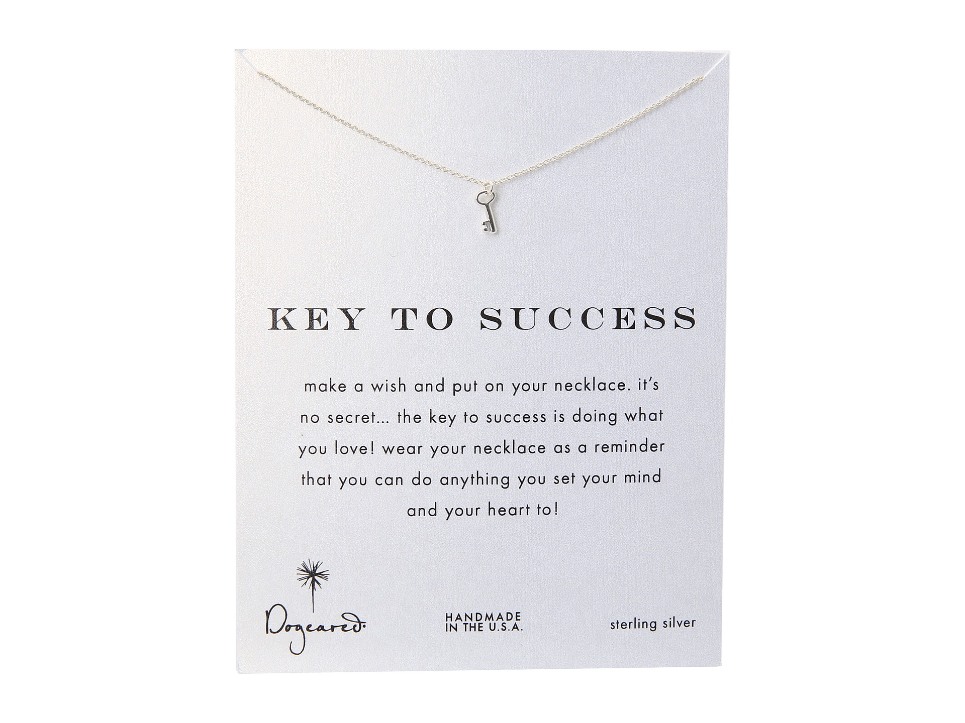 dogeared key to success necklace 16 quot zappos free