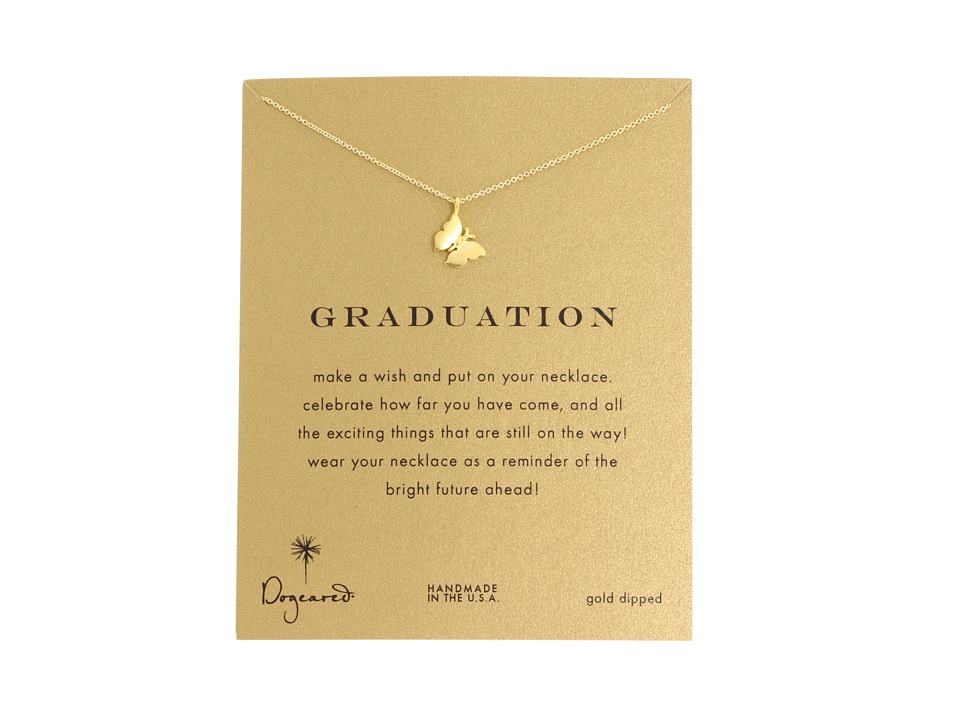Dogeared Graduation Necklace 16 Gold Necklace