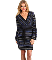Laundry by Shelli Segal - Multi Stitch V-Neck Sweater Dress