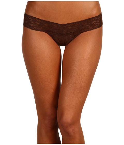 Hanky Panky Petite Signature Lace Low Rise Thong Chestnut Zapposcom