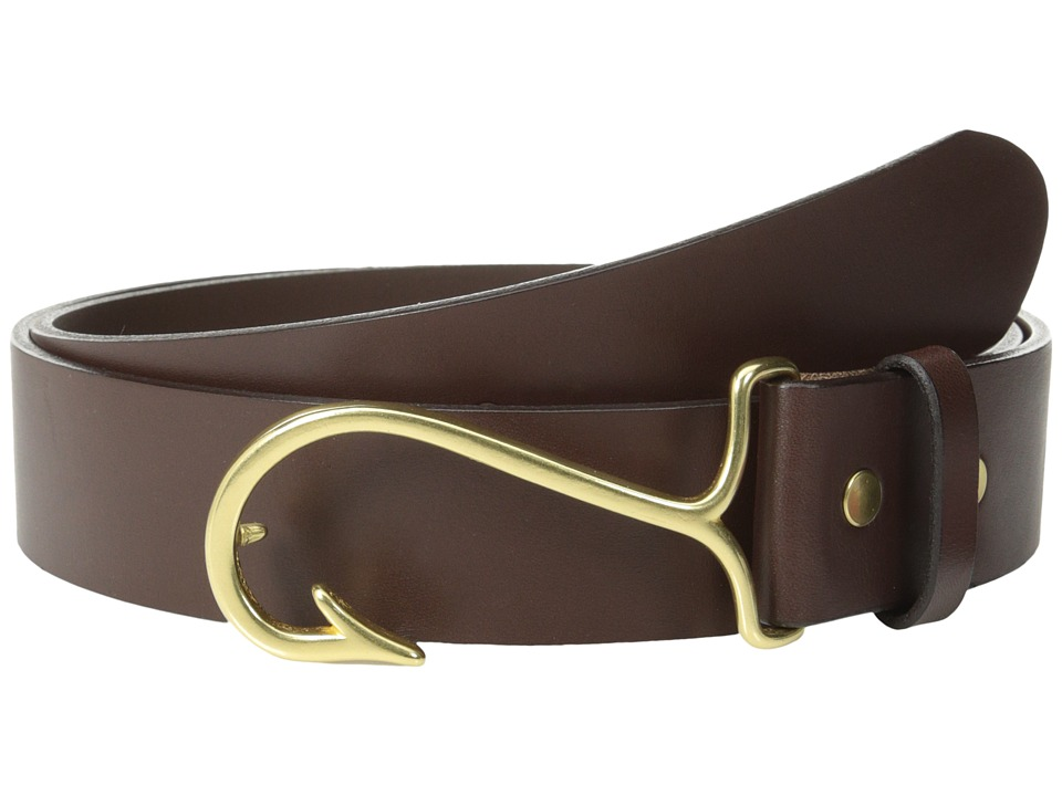 Vineyard Vines - Fish Hook Belt (Dark Brown) Men