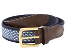 Vineyard Vines - Vineyard Whale Canvas Club Belt (Vineyard Navy) - Apparel