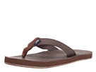 Vineyard Vines Leather Flip Flops (Mudslide)
