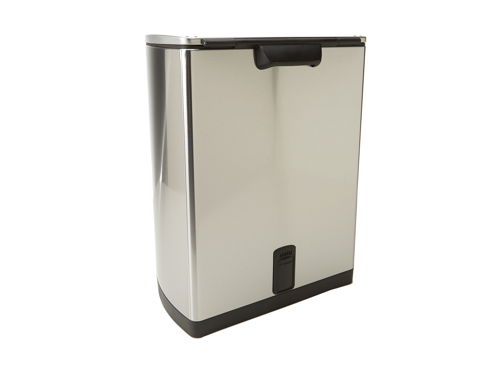 Simplehuman wide step rectangular step trash can fingerprint proof brushed stainless steel 50 - Rectangular garbage cans ...