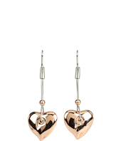 Breil Milano - Feeling Rose Heart Tubular Chain Earrings