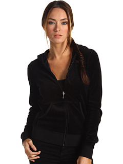 Juicy Couture Black Velour Hoodie Jacket