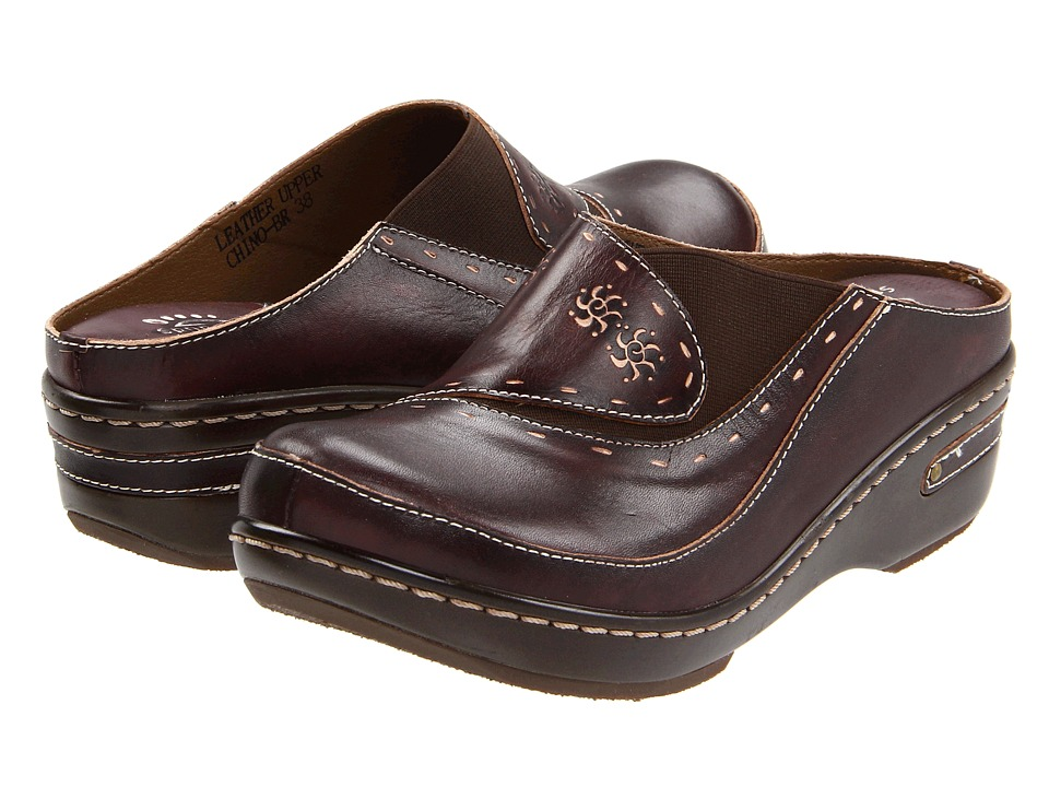 Spring Step Chino Brown Womens Clog Shoes