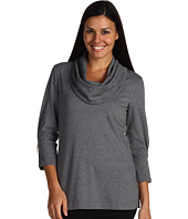 Joan Vass - Cowl Neck Tunic w/Zippers