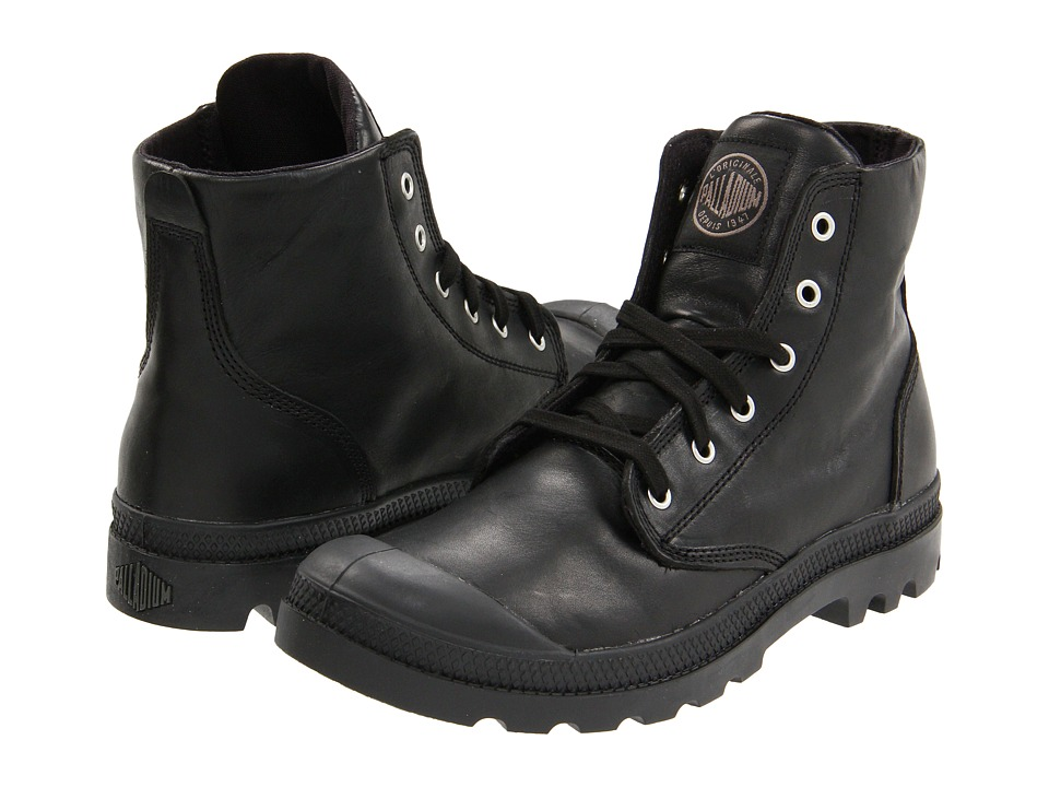 Palladium Pampa Hi Leather (Black) Men
