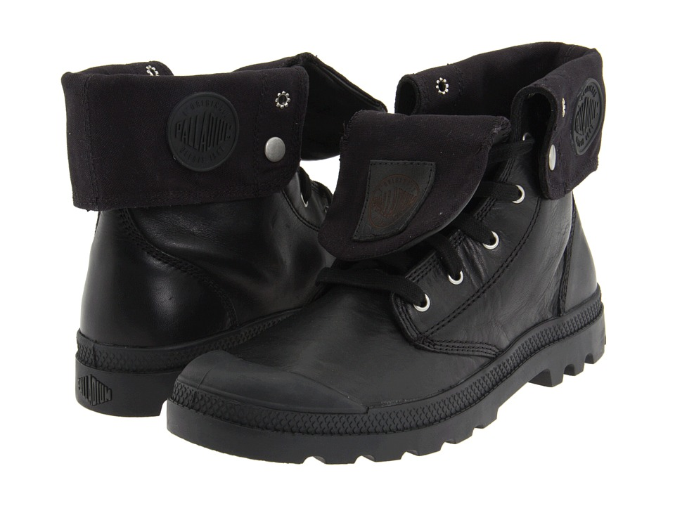 Palladium Baggy Leather Black Mens Lace up Boots