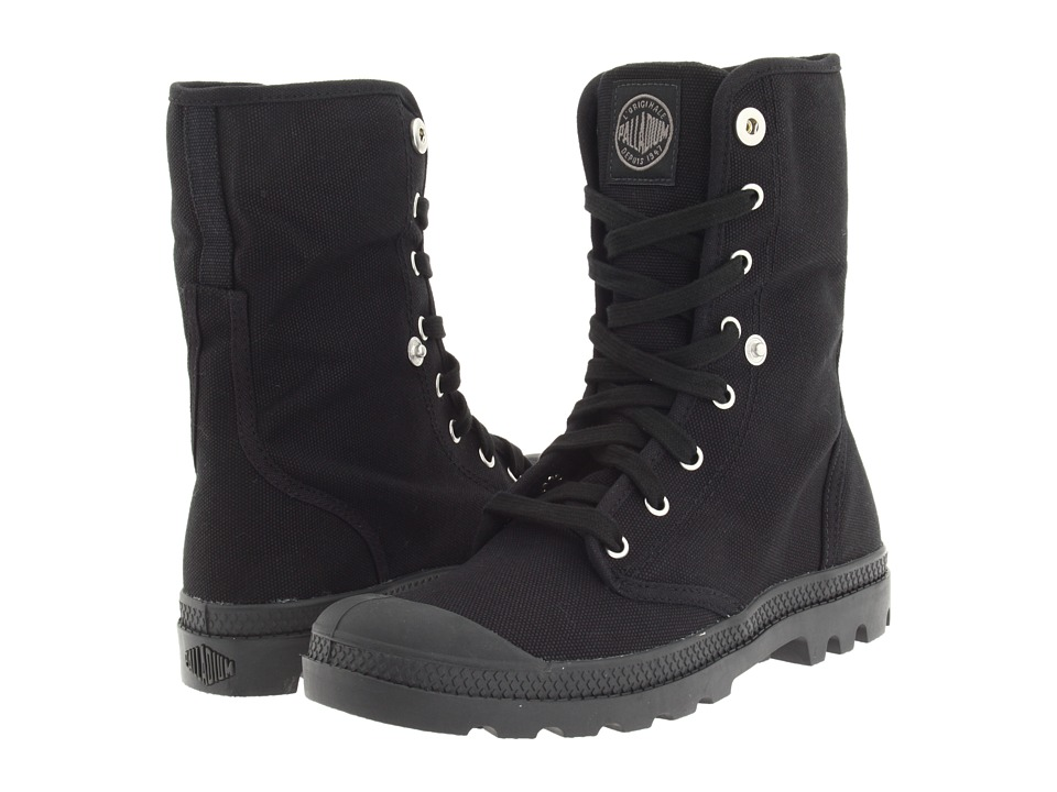 Palladium Baggy Black/Black Womens Lace up Boots