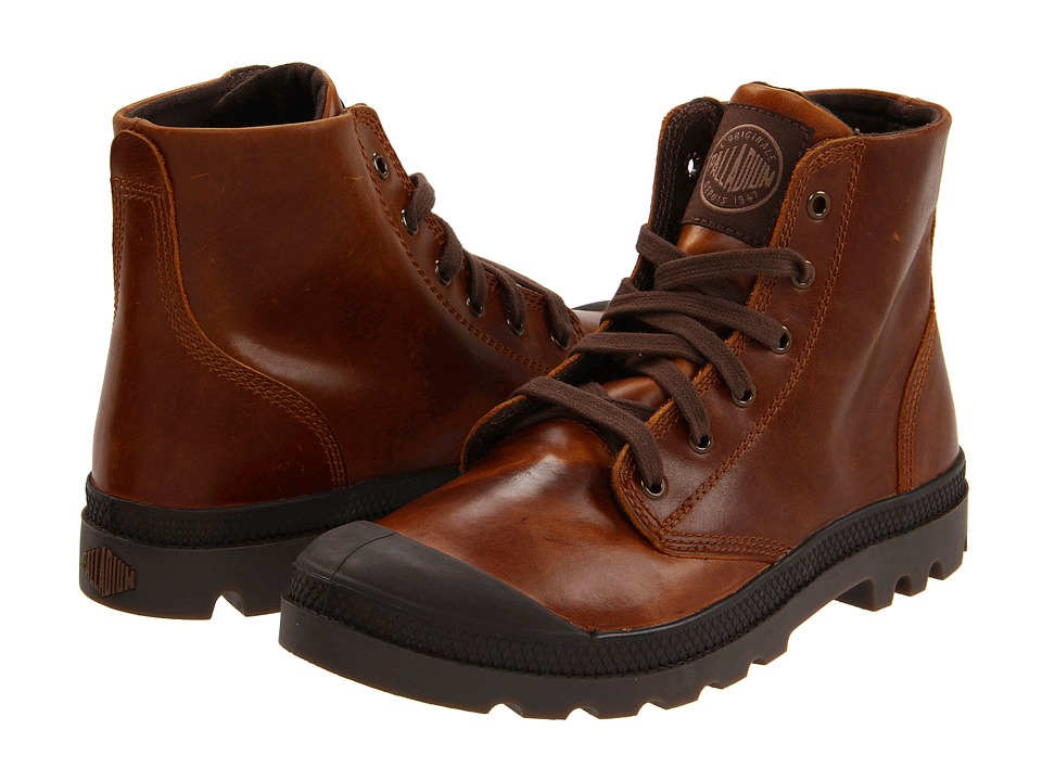 Palladium Pampa Hi Leather (Sunrise/Chocolate) Men