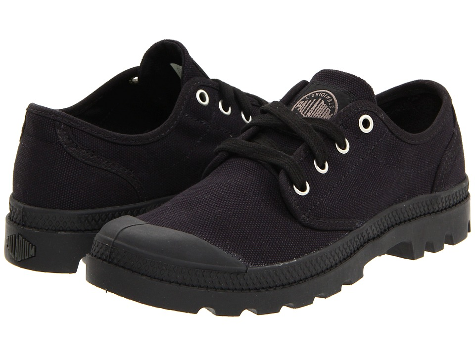 Palladium Pampa Oxford Black/Black Womens Lace up casual Shoes