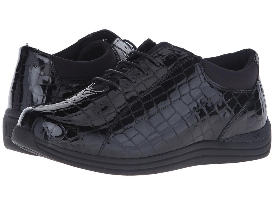 Drew Tulip (Black Croc) Women's Shoes