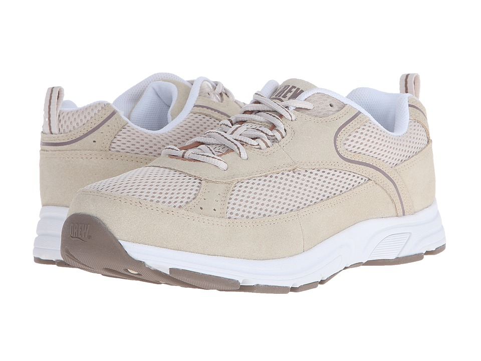 Drew Athena Cream Suede/Mesh Womens Shoes